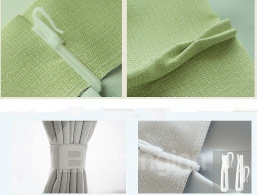 Eco-Fine One- piece Polyester Cotton Unique Design Living Room & Bed Room Curtain