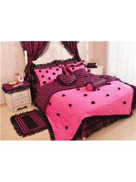 New Arrival Princess Style Rose Lace 4 Piece Bedding Sets/Duvet Cover Sets