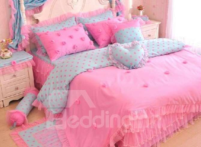 New Arrival Princess Style Romantic Lace 4 Piece Bedding Sets/Duvet Cover Sets