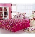Popular Lovely circles with Flower Print 4 Piece Bedding Sets