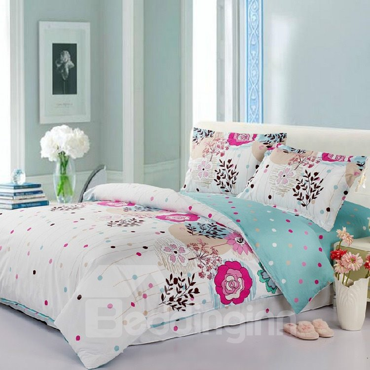 Bright Colorful Dots Active Priting 4 Piece Bedding Sets