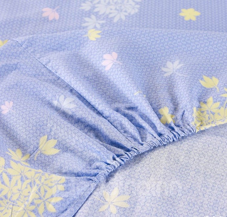 High Quality 4 Piece Rosemary Print Dun and Blue Fitted Sheet Bedding sets