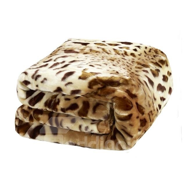 New Arrival High Quality Super Soft Leopard Print Double-Layer Thick Raschel Blanket