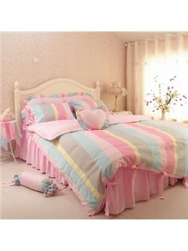 New Arrival Princess Lovely Heart-shaped Colorful 4 Piece Bedding Sets
