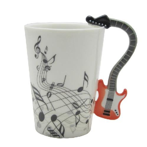New Arrival Unique Design Porcelain Enamel Electric Guitar Coffee Mug