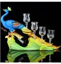 High Quality Noble Delicate Peacock Shape Wine Rack