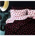 New Arrival 100% Cotton Sexy Kiss 4 Piece Bedding Sets/Duvet Cover Sets