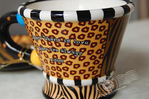 New Arrival Fashion Style Leopard Painted Creative Ceramic Mug