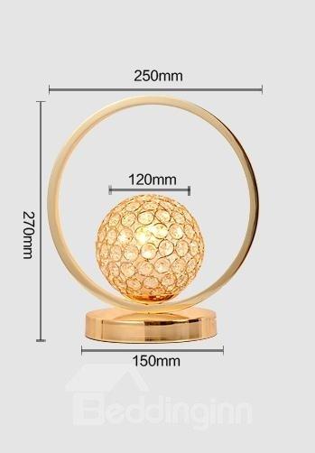 Amazing K9 Crystal Brightness Adjustable Golden Table Lamp