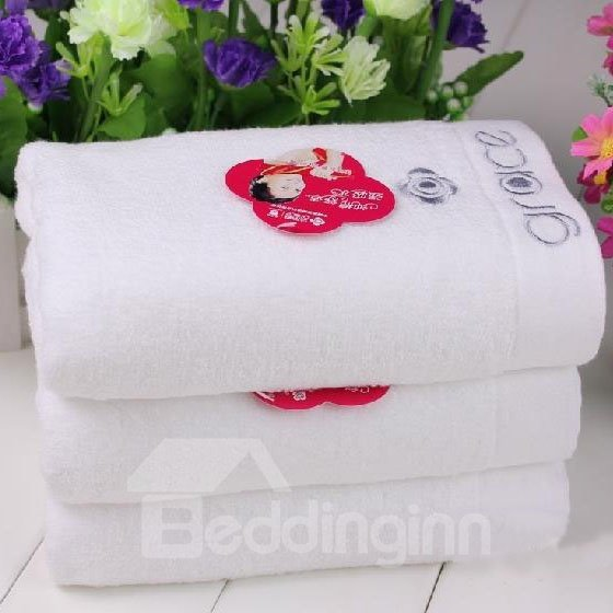 New Arrival Comfortable Skin Care Classic White Soft Towel