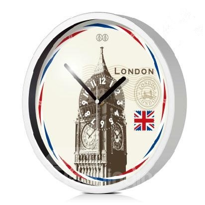 London Big Ben Pattern Mute Artistic Wall Clock