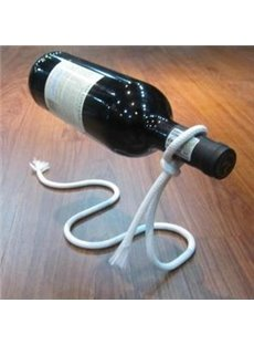 Fancy Hang Red Wine in the Air Rope Shape Wine Rack