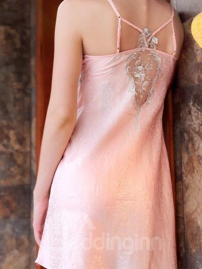 New Arrival European Style Vintage Sexy Backless Sleepwear