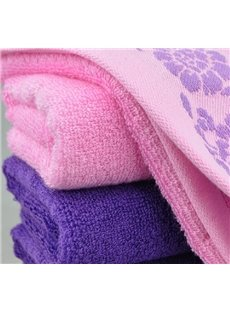 Comfortable Bamboo Fiber Elegant Leaves Print 2-Pieces Towel