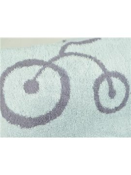 Comfortable Bamboo Fiber Bicycle Print Towel