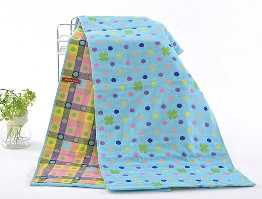 Bright Color Spots Print Bathroom & Gym Towel