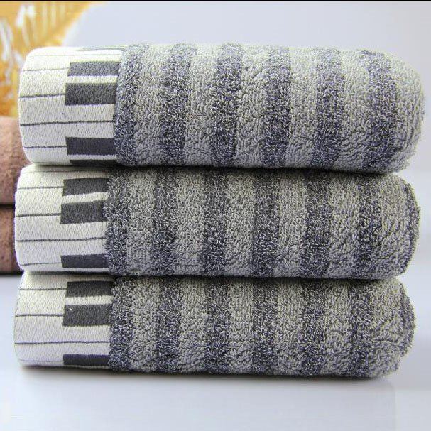 100% Cotton Piano Patterns Towel for Bathroom & Gym