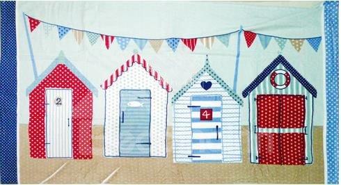 New Arrival  Cartoon Beach Houses Patterns Bath Towel