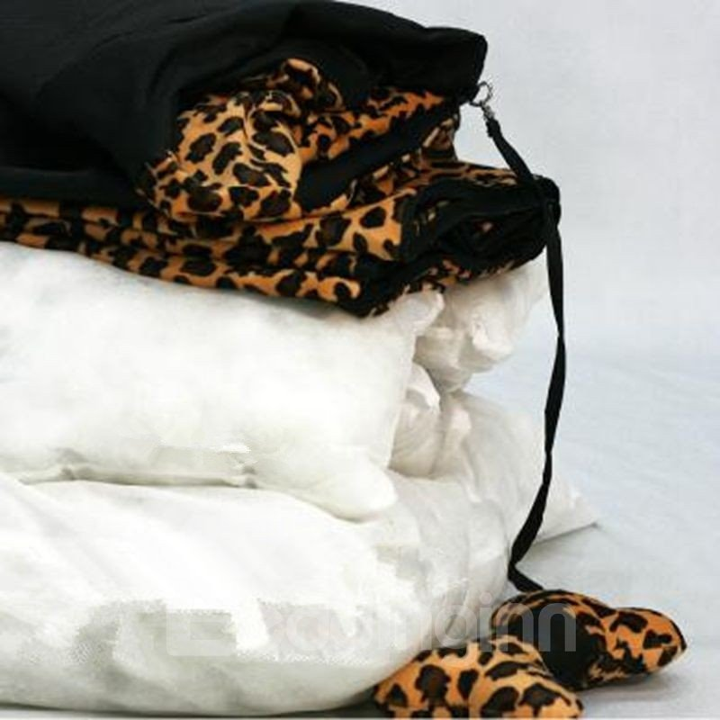New Arrival Fashion Strong 500D Oxford Fabric Leopard Warm Pets Kennel Sets