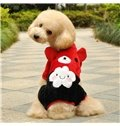 Flannel Boxers Smile Face Cloud Warm Dog Autumn and Winter Clothing