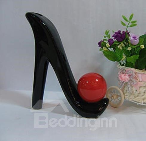 Unique Fashionable High Heels Shape Porcelain Vase