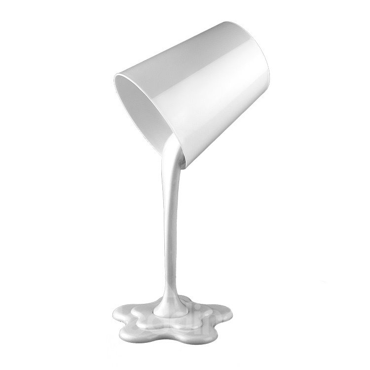 Pure White Chic Pull Water Cup Shape LED Table Lamp