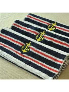 New Arrival Navy Anchor and Stripes Patterns Towel