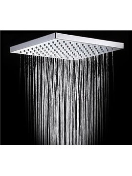 8 Inches Square High Polish Chrome Top Shower Head