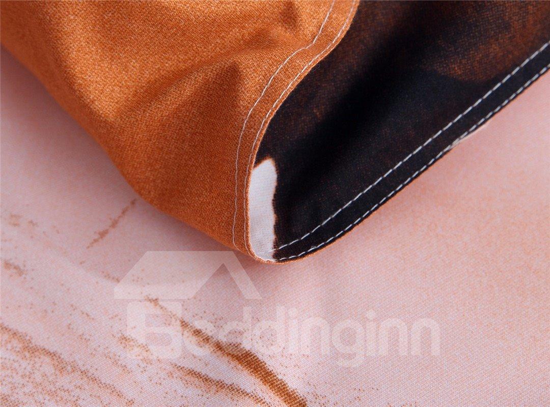 European Style Galloping Horse Reactive Print 4 Piece Bedding Set