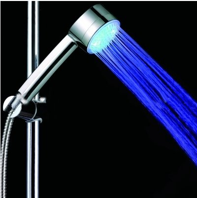 new arrivial color temperature Changing LED  A Grade ABS Chrome Finish  Hanldheld Shower head