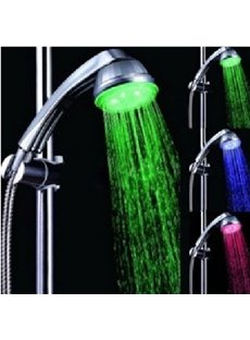 colour temperature contral Changing LED  A Grade ABS Chrome Finish   Shower head