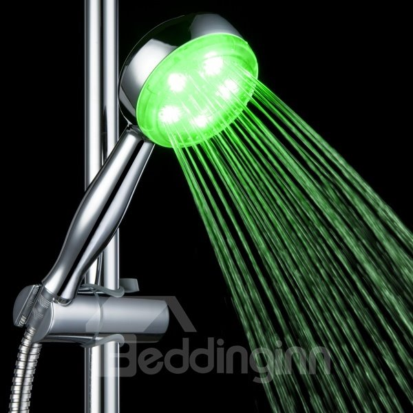 A Grade ABS colour temperature contral Changing LED   Chrome Finish   Shower head