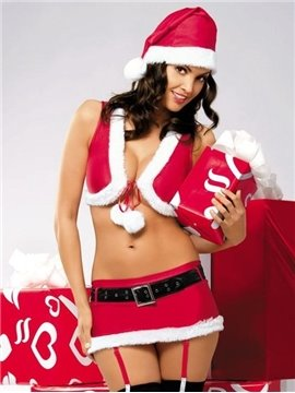 New Seductive 4pc Christmas Costumes