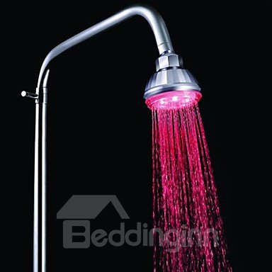 New arrivial Contemporary Color-changing Chrome Finish LED Showerhead