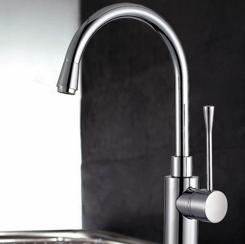 New Arrival Single Handle High Arc Solid Brass Pullout Kitchen Sink Faucet