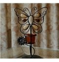 New Arrival Romantic Butterfly Design Iron Material Decorative Candle Holder