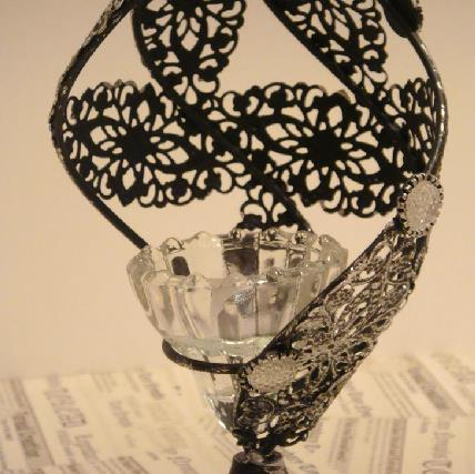 Image For New Arrival Beautiful Hollowed Conch Design Iron Material Candle Holder