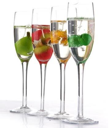 New arrival elegant fruit champagne glass design candle for Champagne drinks with fruit