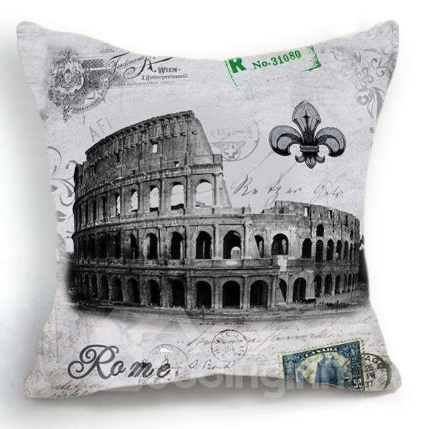 New Arrival Nostalgia Rome the Colosseum Print Throw Pillow