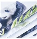 3D Mother and Baby Pandas Printed Cotton 4-Piece Bedding Sets/Duvet Covers