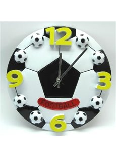 New Arrival Lovely Creative Football Design Plastic Wall Clock