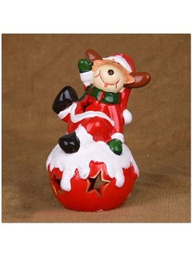New Arrival Lovely Christmas Reindeer Design Hollowed Candle Holder