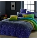 Lovely Starry Sky Print Comfortable Kintting Bedding Sets with Fitted Sheet