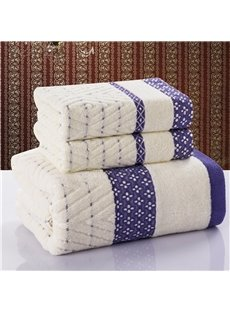 New Arrival 100% Cotton Elegant Floral Borders Simple Design Towel