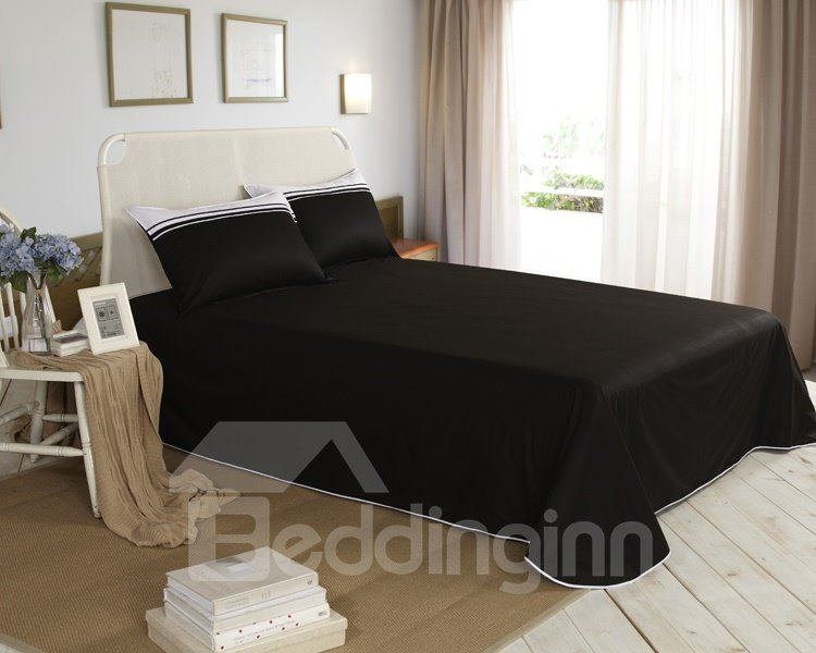 New Arrival Elegant Black and White Color Irregular Patterns 6 Piece Bedding Sets