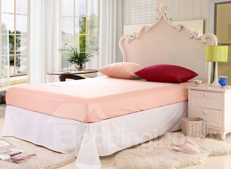 New Arrival Lovely Brown Color Floral Borders 6 Piece Bedding Sets with Fitted Sheet