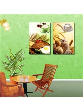 Lovely Delicious Breakfast Print Cross Film Wall Art Prints