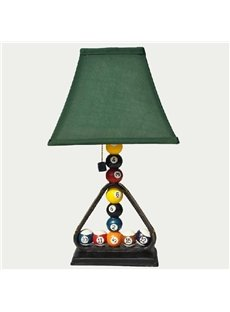 Creative Lovely Billiards Style Resin Table Lamp