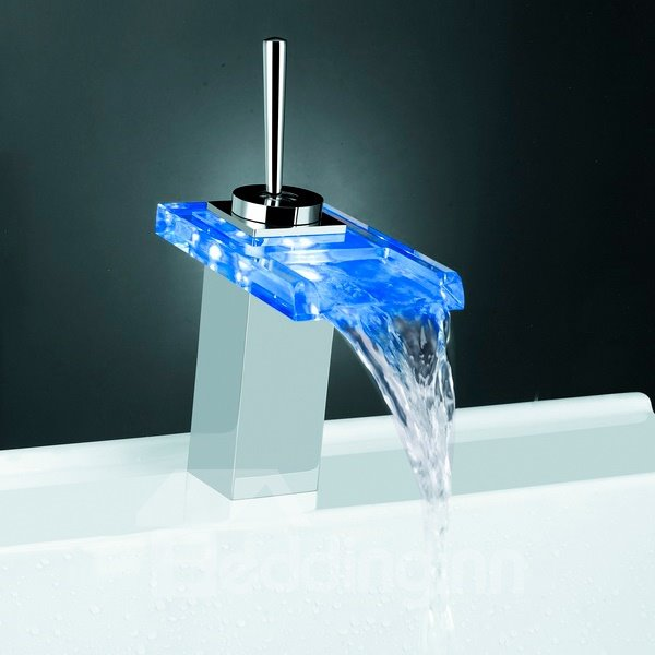 New Arrival Built-in LED Light Temperature Control Luminous Stick Handle Bathroom&Kitchen Faucet