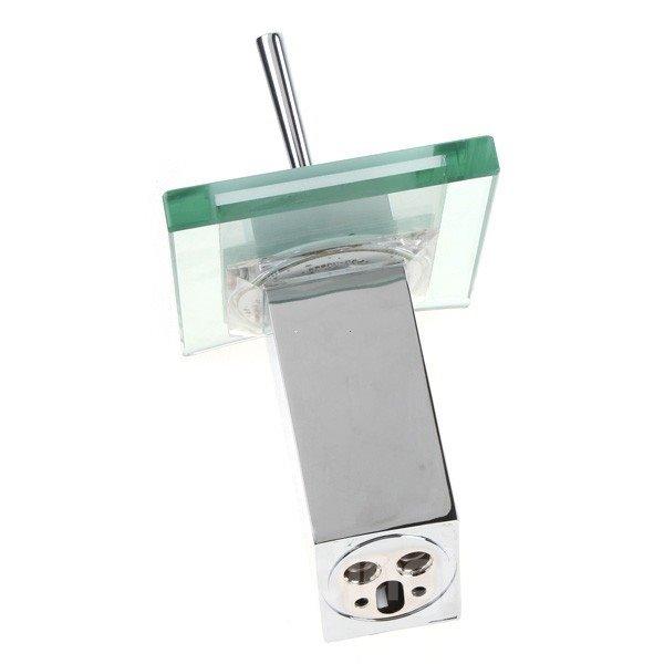 LED Color-changing Temperature Control Luminous Stick Handle Bathroom&Kitchen Faucet
